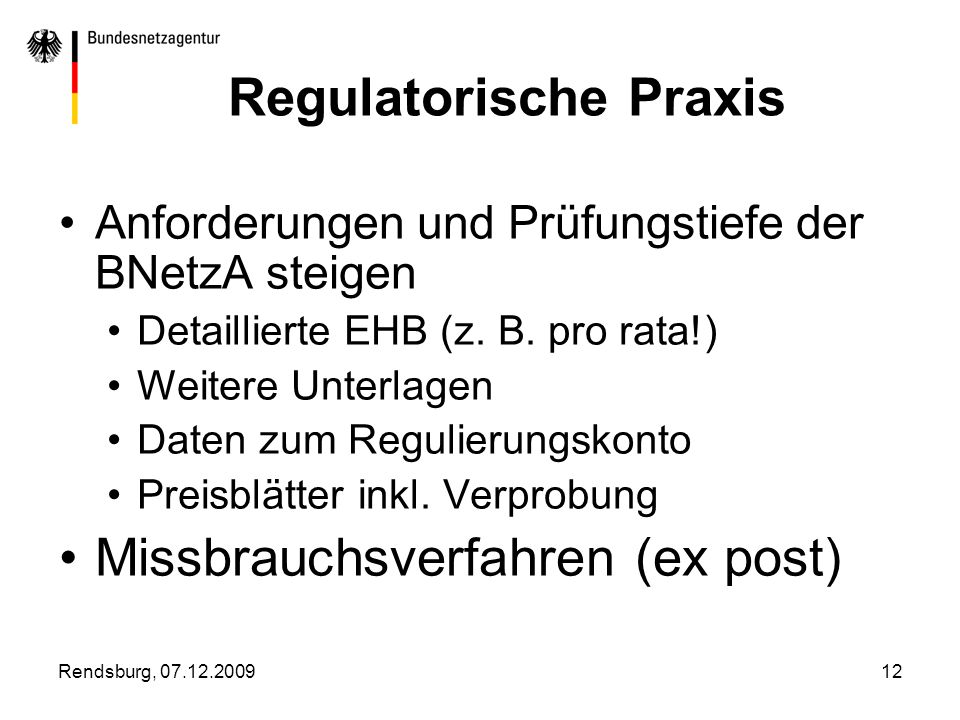 Regulatorische Praxis