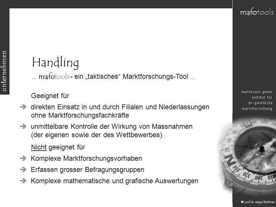 """Handling ... mafotools - ein """"taktisches Marktforschungs-Tool ..."""