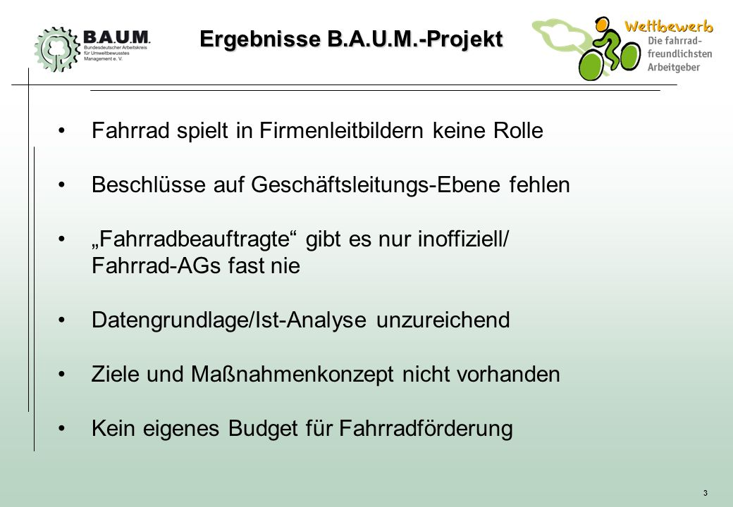 Ergebnisse B.A.U.M.-Projekt