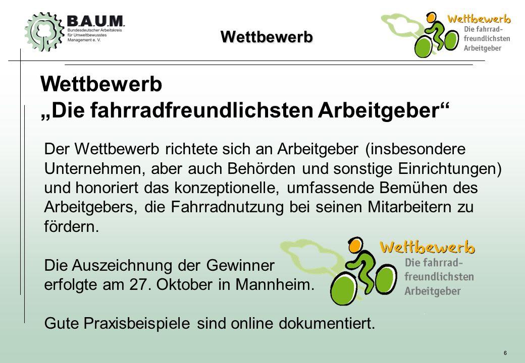 """""""Die fahrradfreundlichsten Arbeitgeber"""