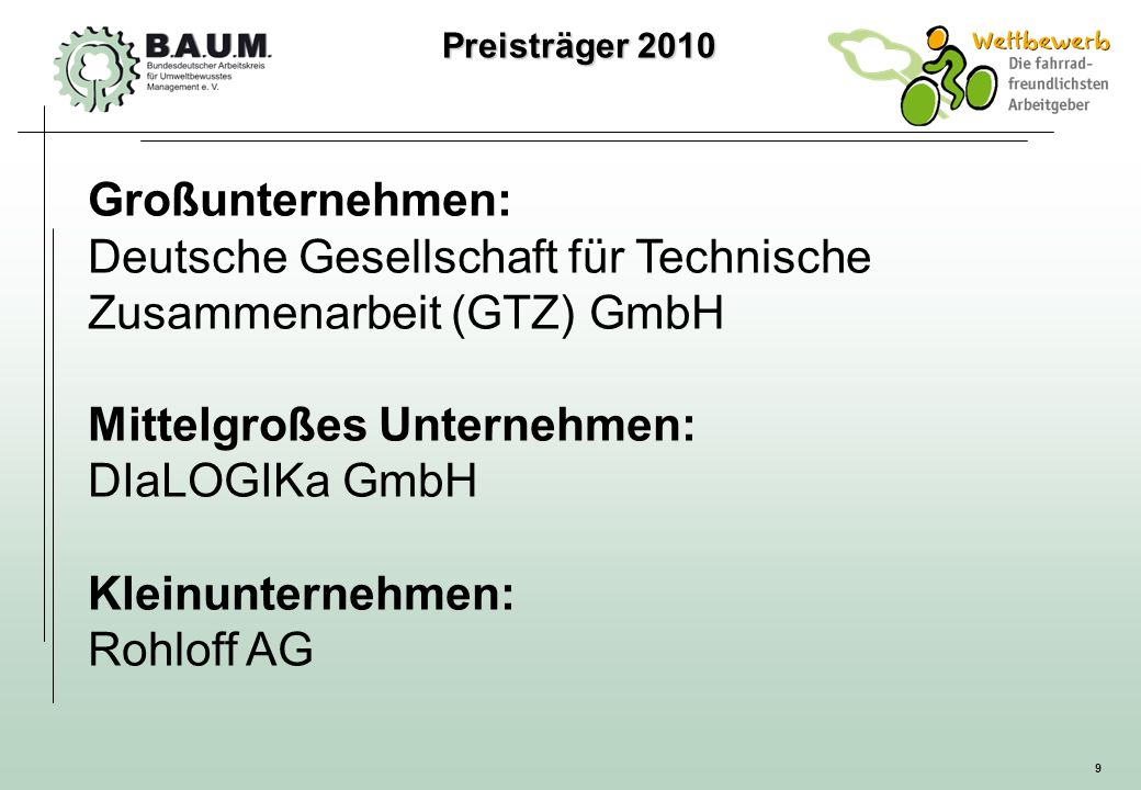 Deutsche Gesellschaft für Technische Zusammenarbeit (GTZ) GmbH