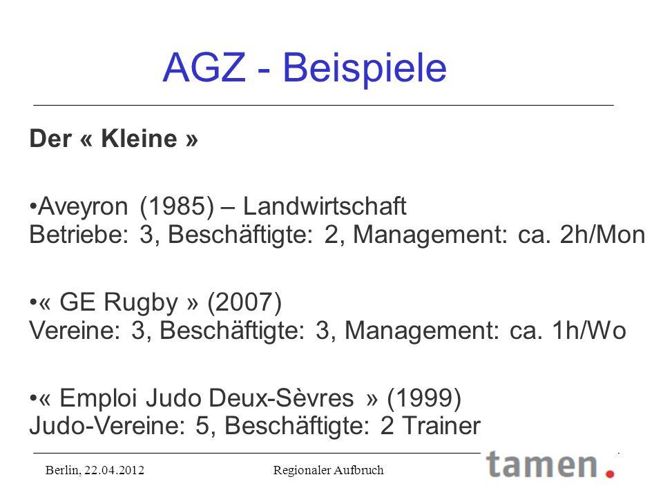 AGZ - Beispiele Der « Kleine »
