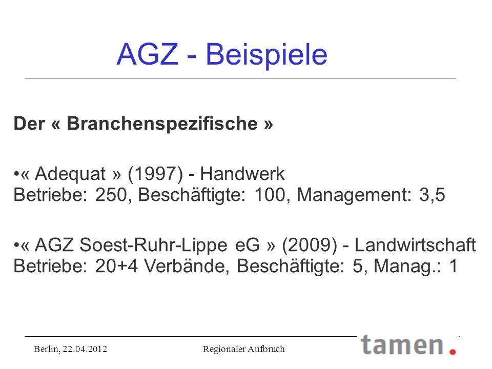 AGZ - Beispiele Der « Branchenspezifische »