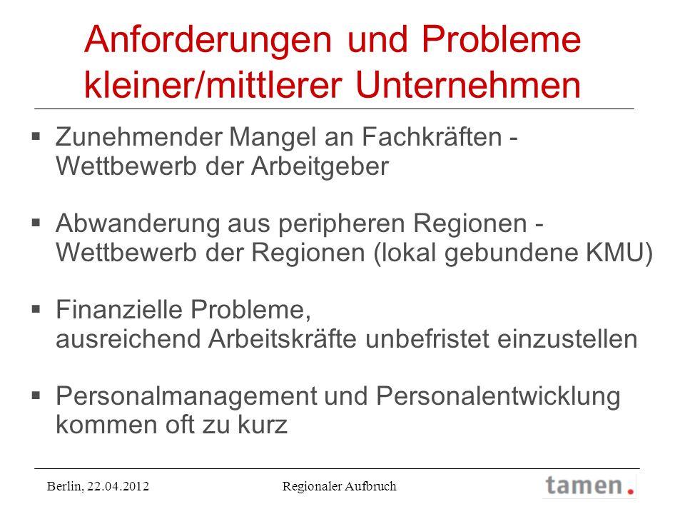 Anforderungen und Probleme kleiner/mittlerer Unternehmen