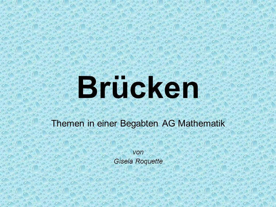 Themen in einer Begabten AG Mathematik von Gisela Roquette
