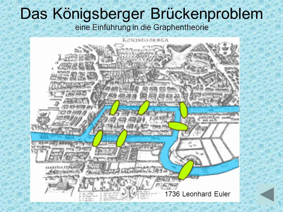 Das Königsberger Brückenproblem eine Einführung in die Graphentheorie