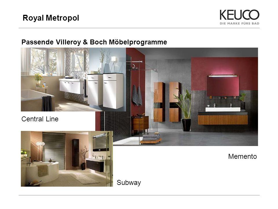 Royal Metropol Passende Villeroy & Boch Möbelprogramme Central Line