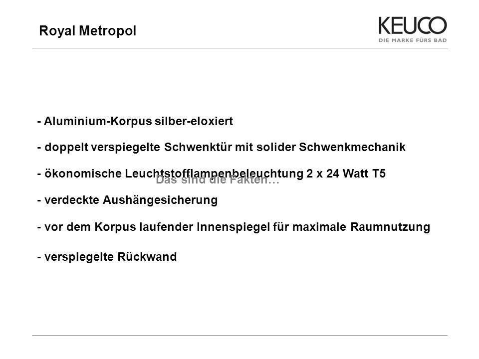 Royal Metropol - Aluminium-Korpus silber-eloxiert