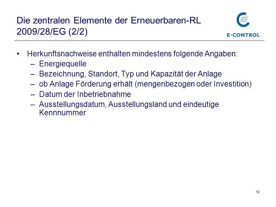 Die zentralen Elemente der Erneuerbaren-RL 2009/28/EG (2/2)