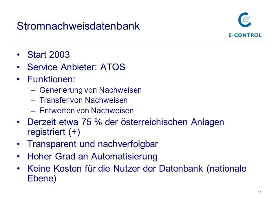 Stromnachweisdatenbank