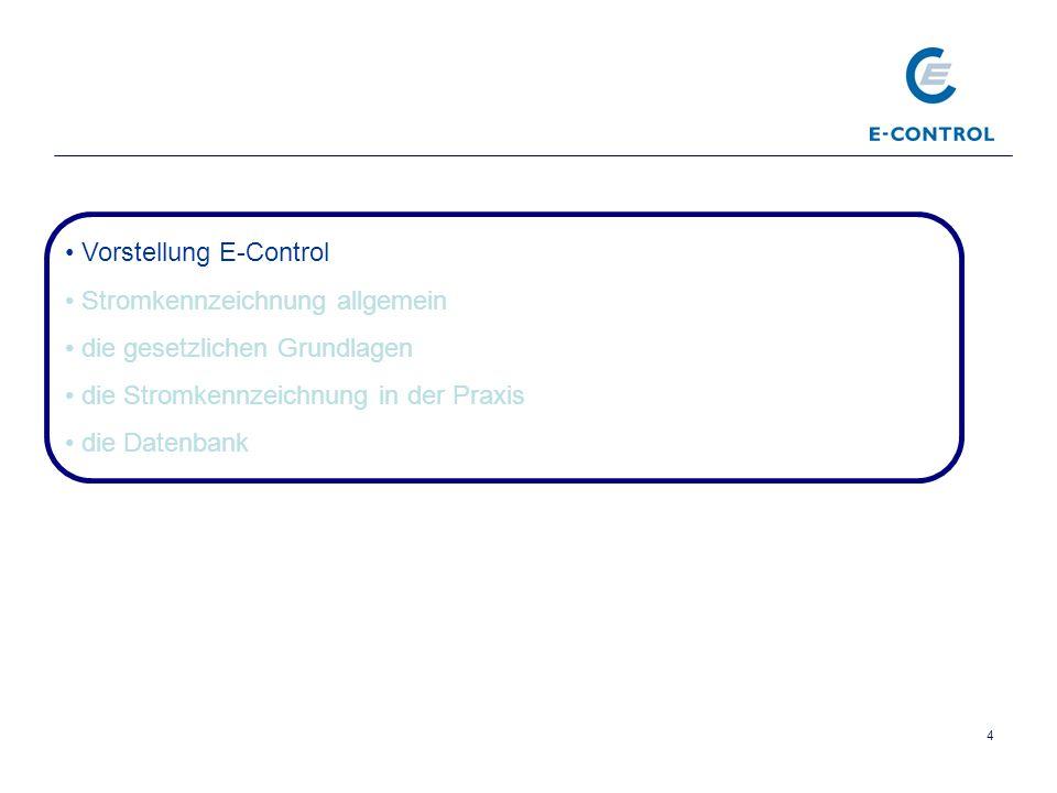 Vorstellung E-Control