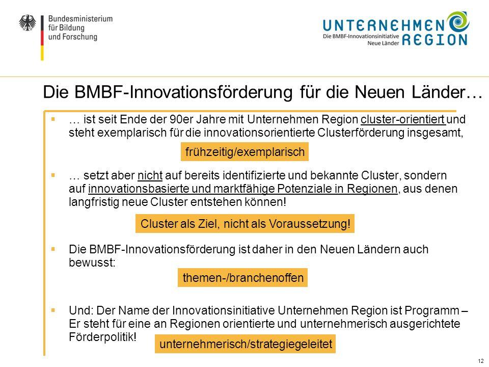 Die BMBF-Innovationsförderung für die Neuen Länder…