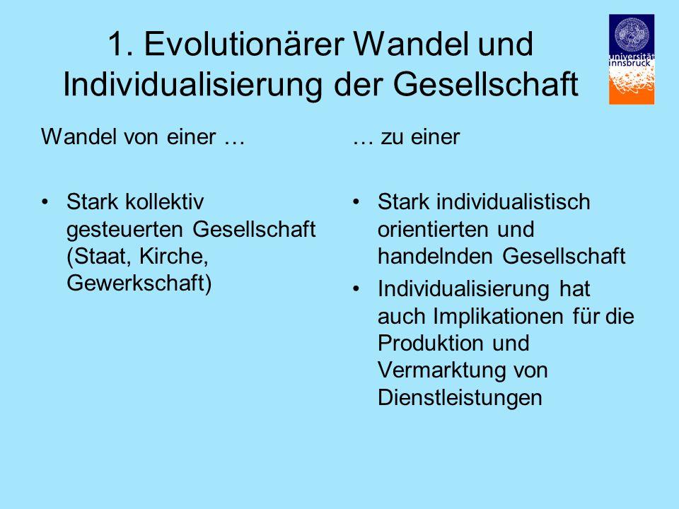 1. Evolutionärer Wandel und Individualisierung der Gesellschaft