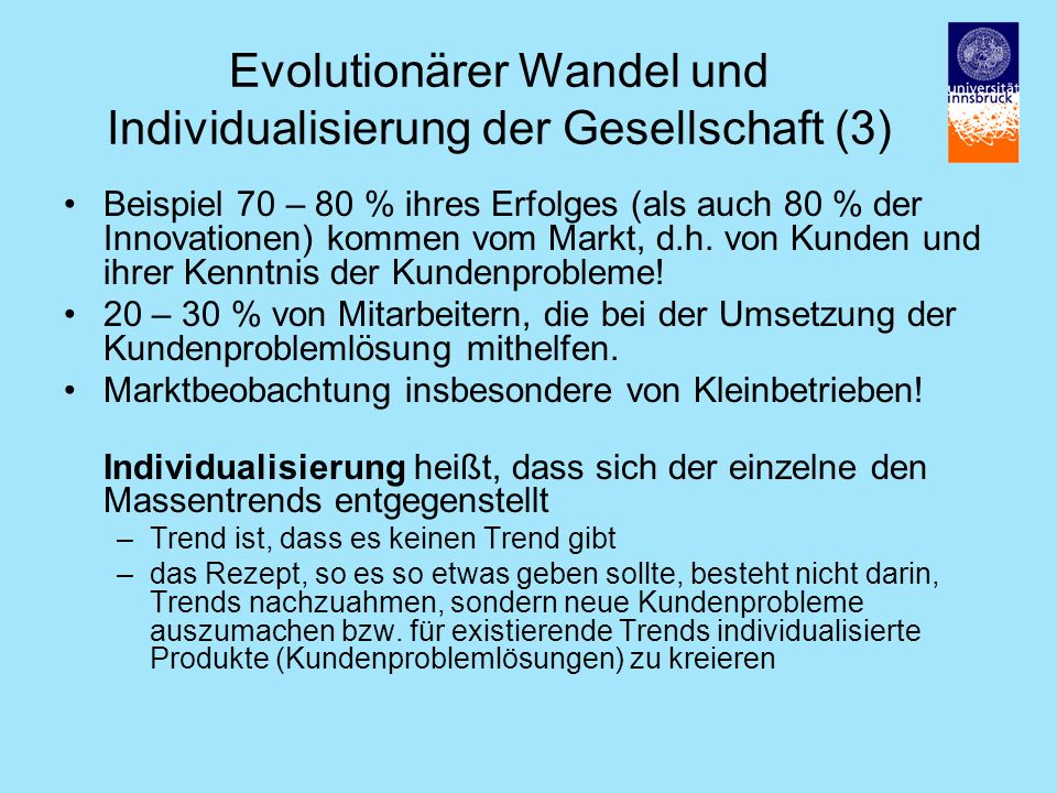 Evolutionärer Wandel und Individualisierung der Gesellschaft (3)