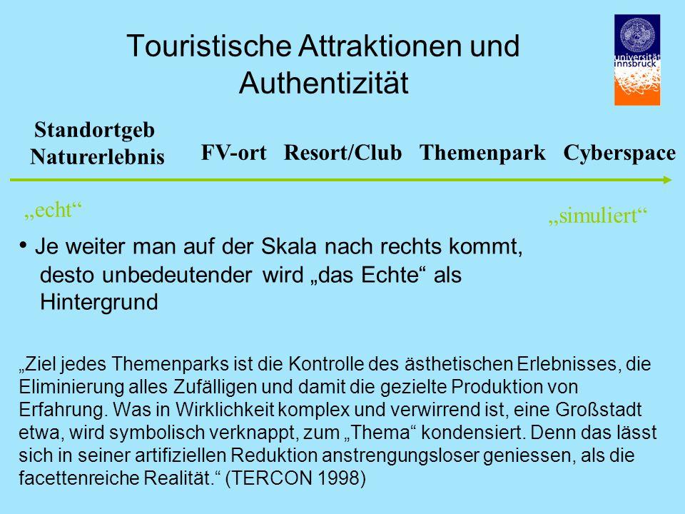 Touristische Attraktionen und Authentizität