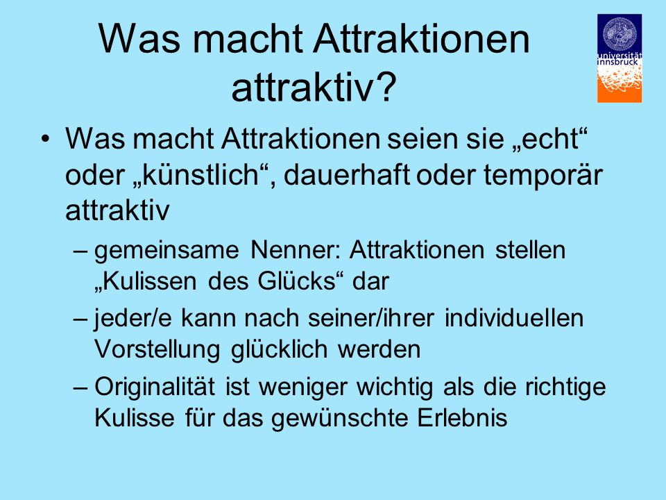 Was macht Attraktionen attraktiv