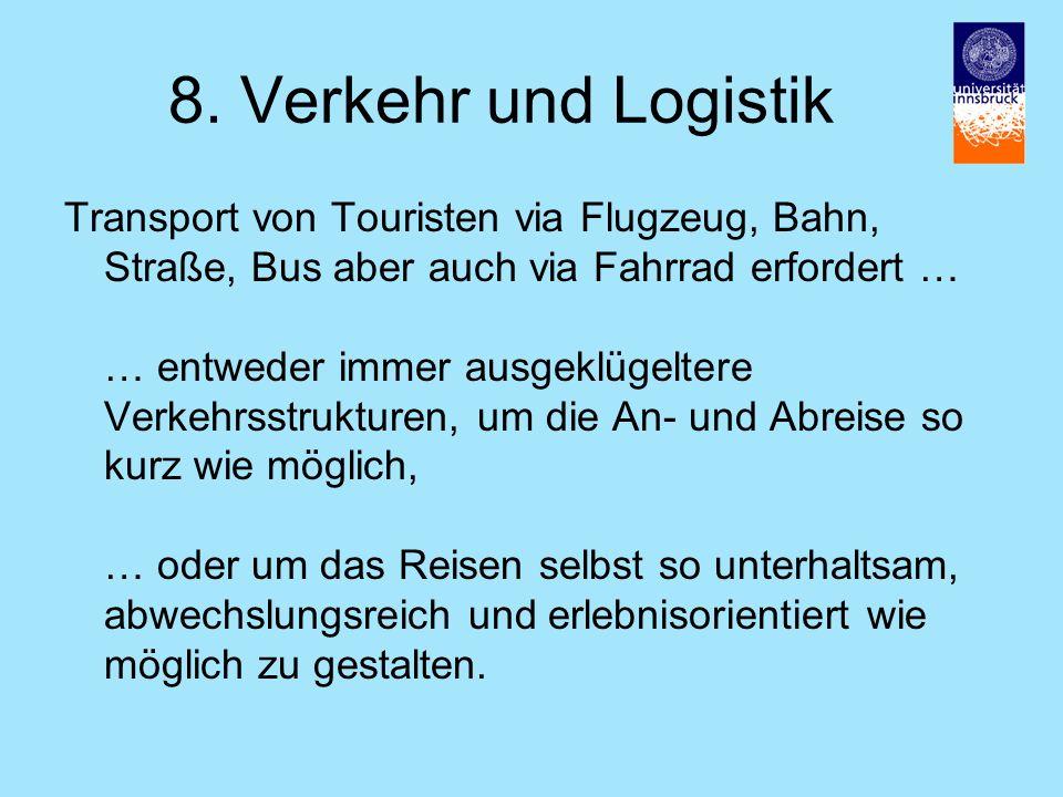 8. Verkehr und Logistik