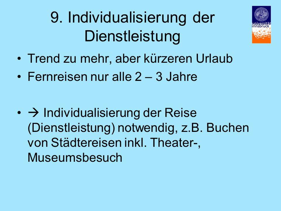9. Individualisierung der Dienstleistung