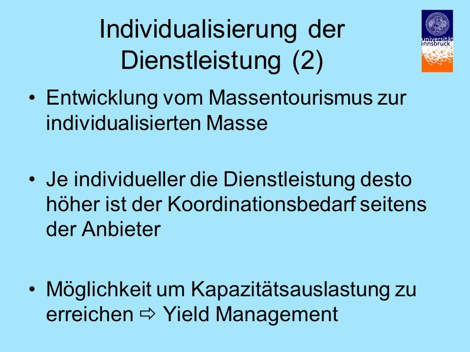 Individualisierung der Dienstleistung (2)