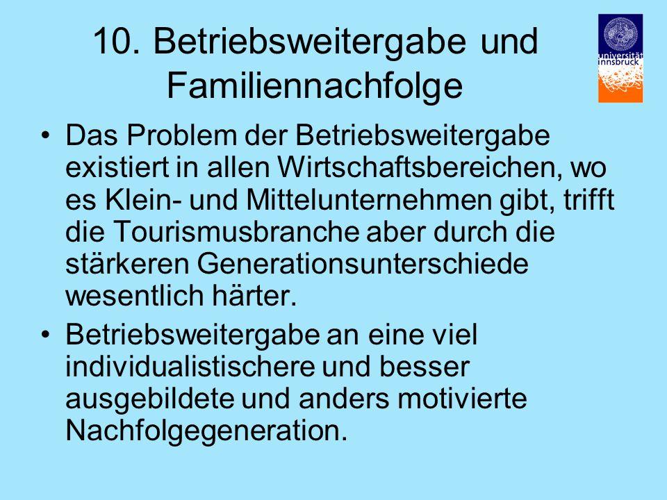 10. Betriebsweitergabe und Familiennachfolge