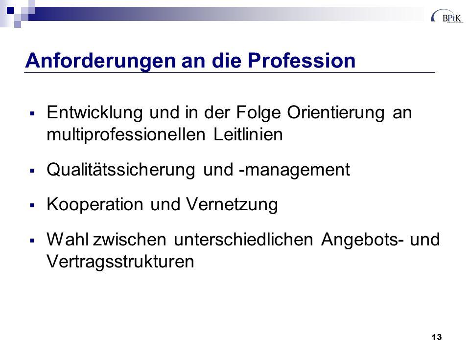 Anforderungen an die Profession