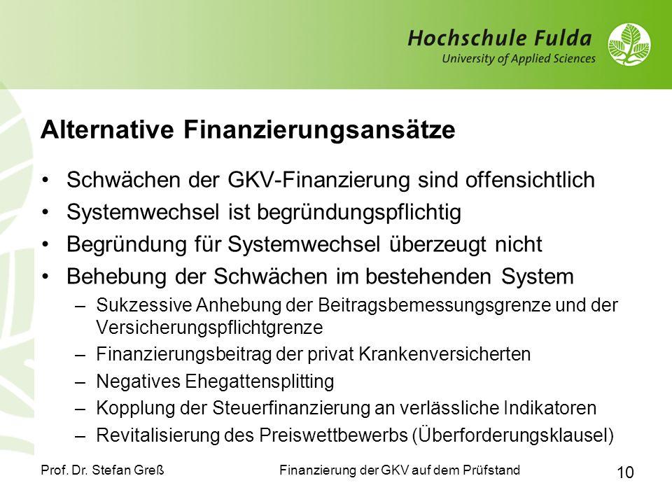 Alternative Finanzierungsansätze