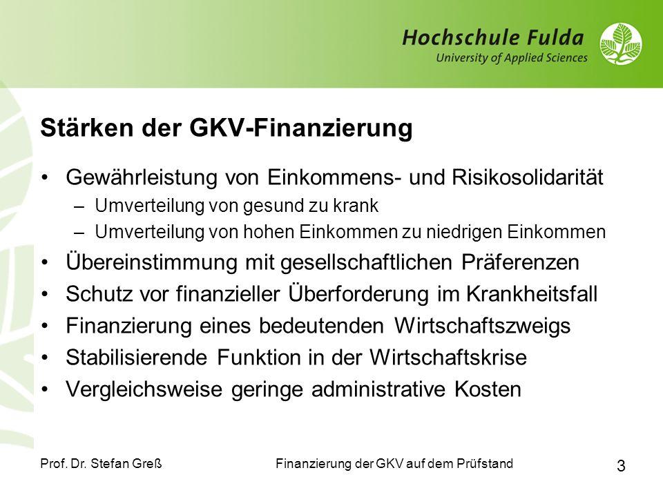 Stärken der GKV-Finanzierung