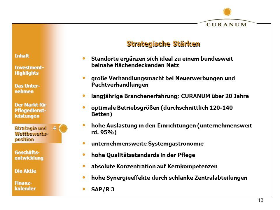 Strategische Stärken Standorte ergänzen sich ideal zu einem bundesweit