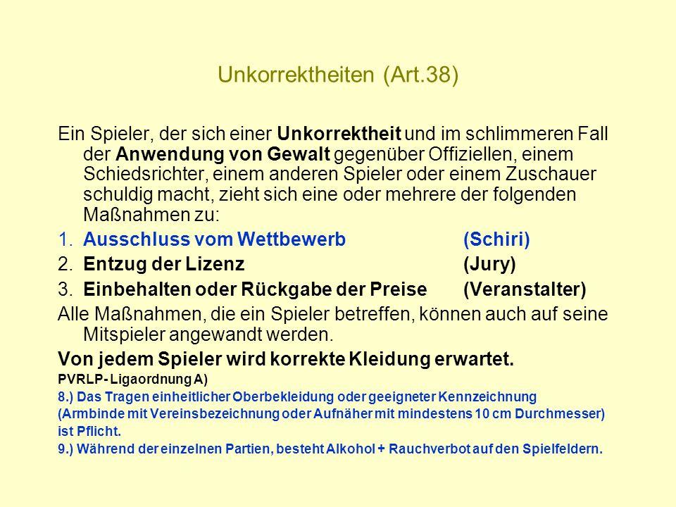 Unkorrektheiten (Art.38)
