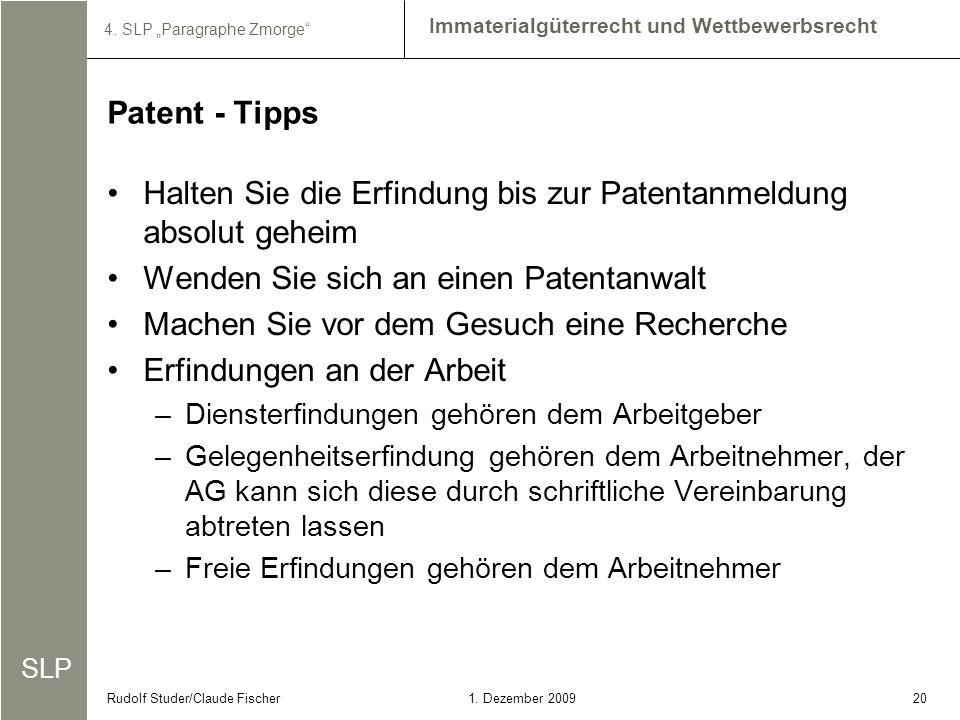 Halten Sie die Erfindung bis zur Patentanmeldung absolut geheim