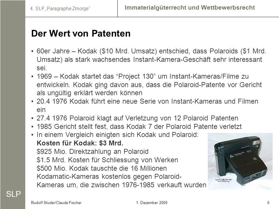 Der Wert von Patenten