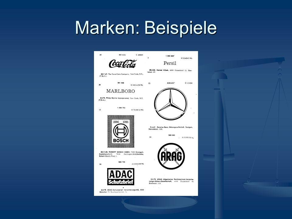 Marken: Beispiele