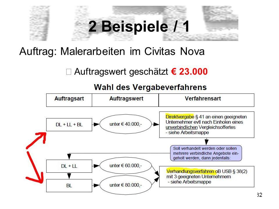 2 Beispiele / 1 Auftrag: Malerarbeiten im Civitas Nova