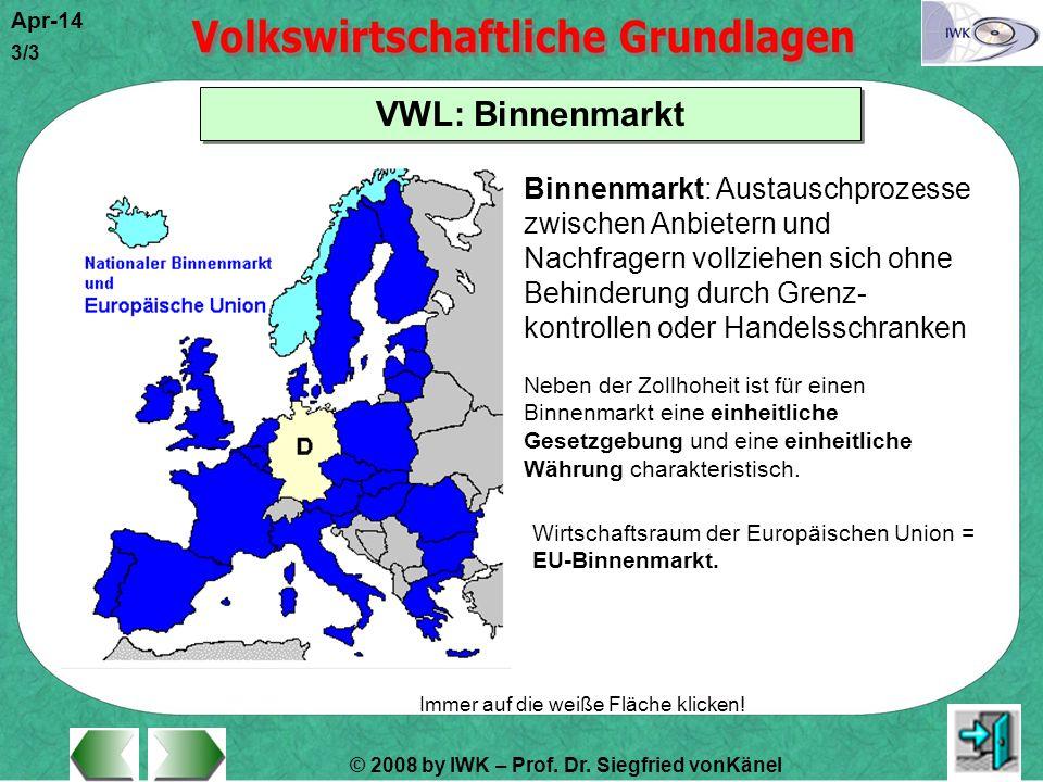 VWL: Binnenmarkt