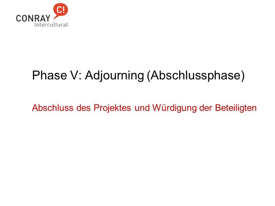 Phase V: Adjourning (Abschlussphase)