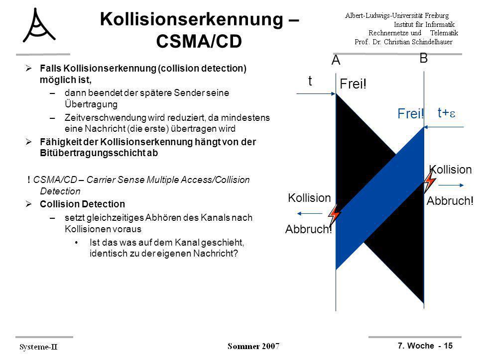 Kollisionserkennung – CSMA/CD