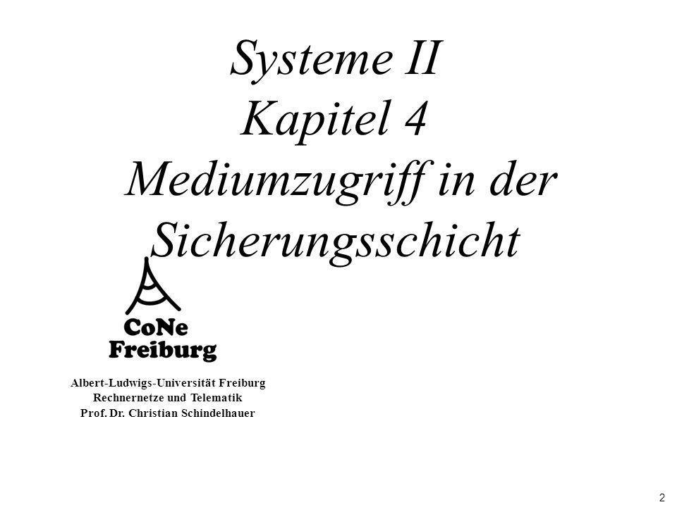 Systeme II Kapitel 4 Mediumzugriff in der Sicherungsschicht