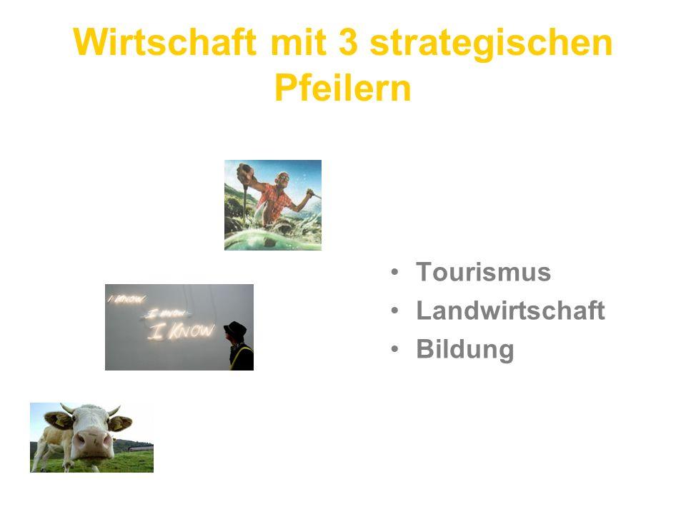 Wirtschaft mit 3 strategischen Pfeilern