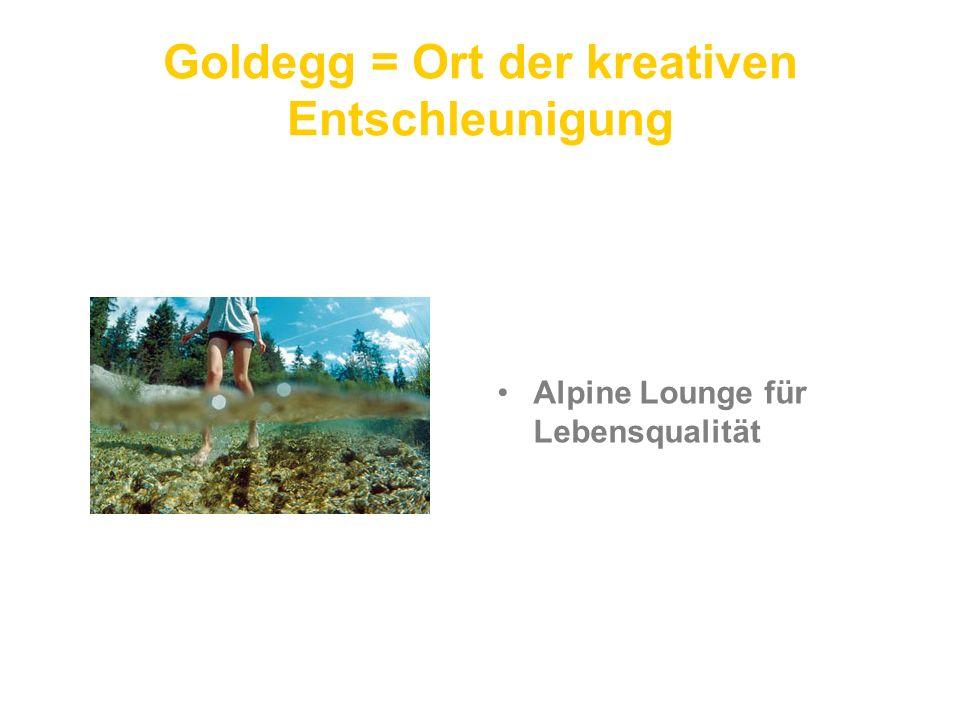 Goldegg = Ort der kreativen Entschleunigung