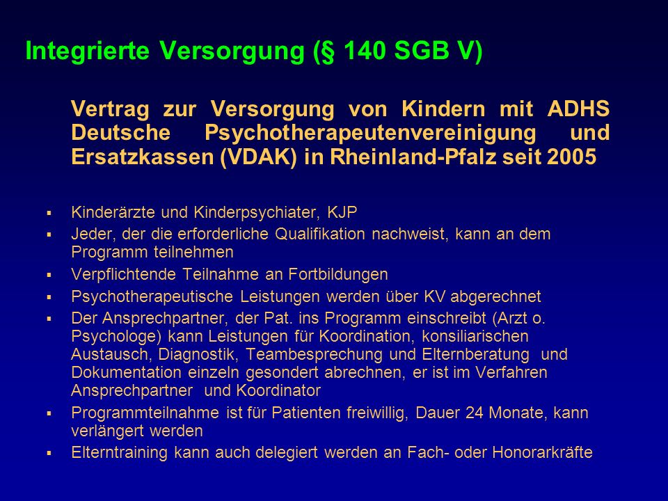 Integrierte Versorgung (§ 140 SGB V)