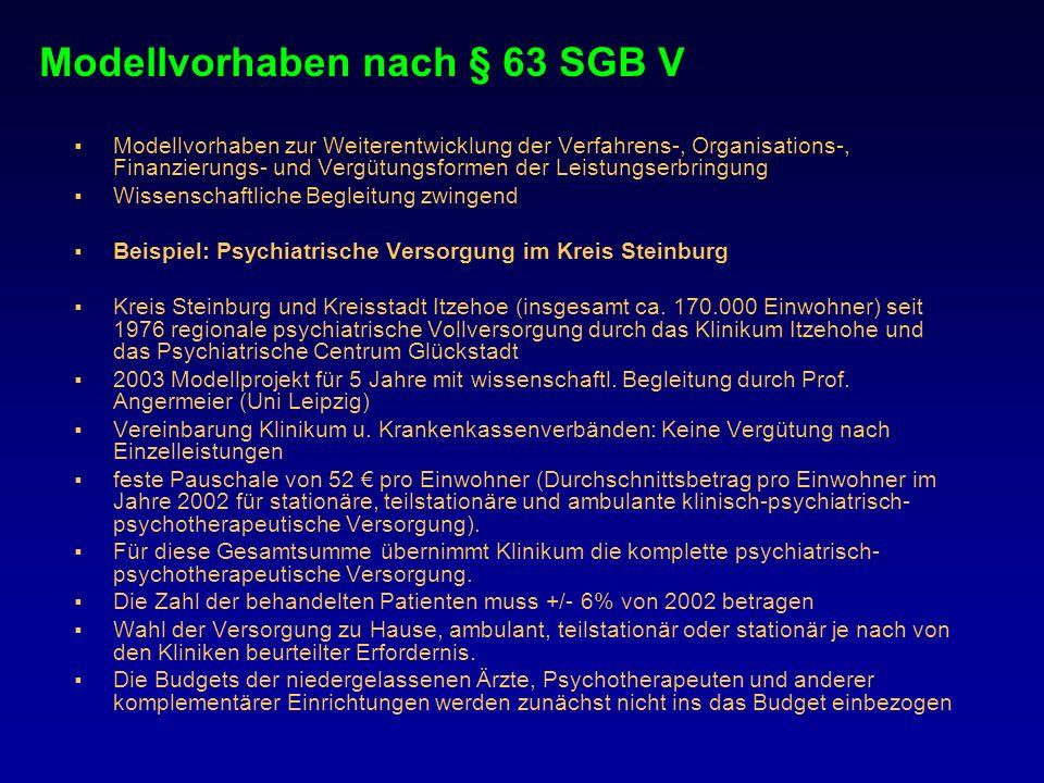 Modellvorhaben nach § 63 SGB V