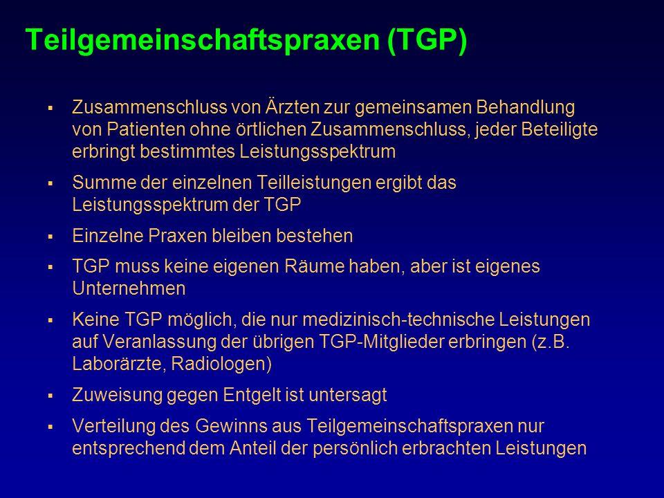 Teilgemeinschaftspraxen (TGP)