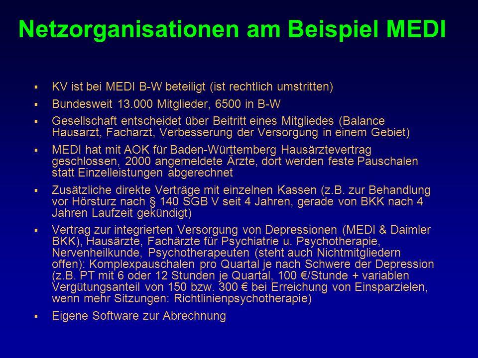 Netzorganisationen am Beispiel MEDI