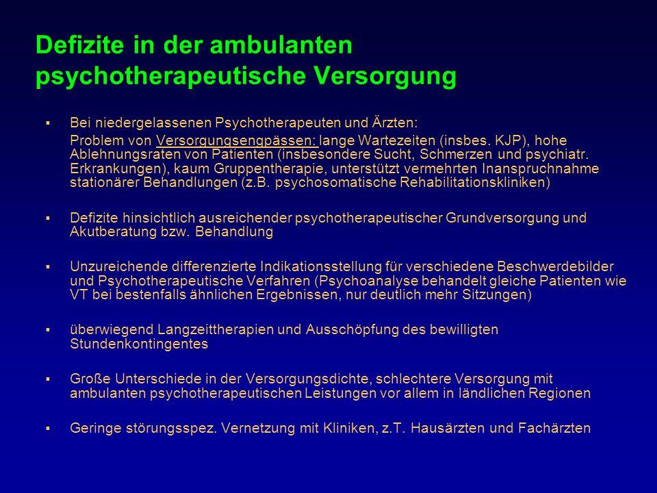 Defizite in der ambulanten psychotherapeutische Versorgung