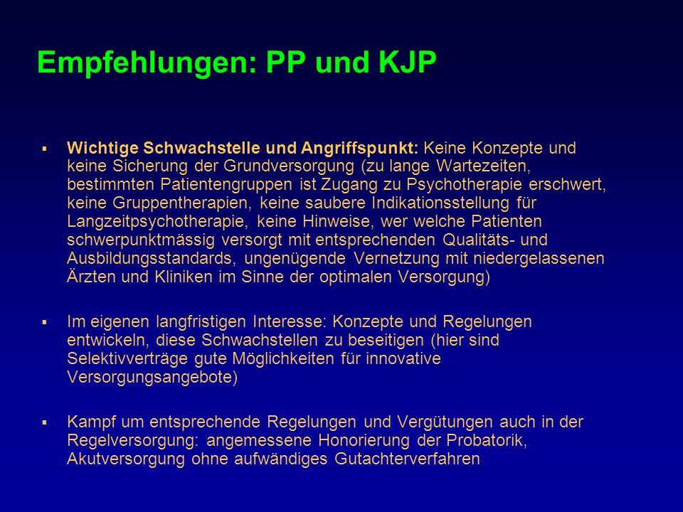 Empfehlungen: PP und KJP