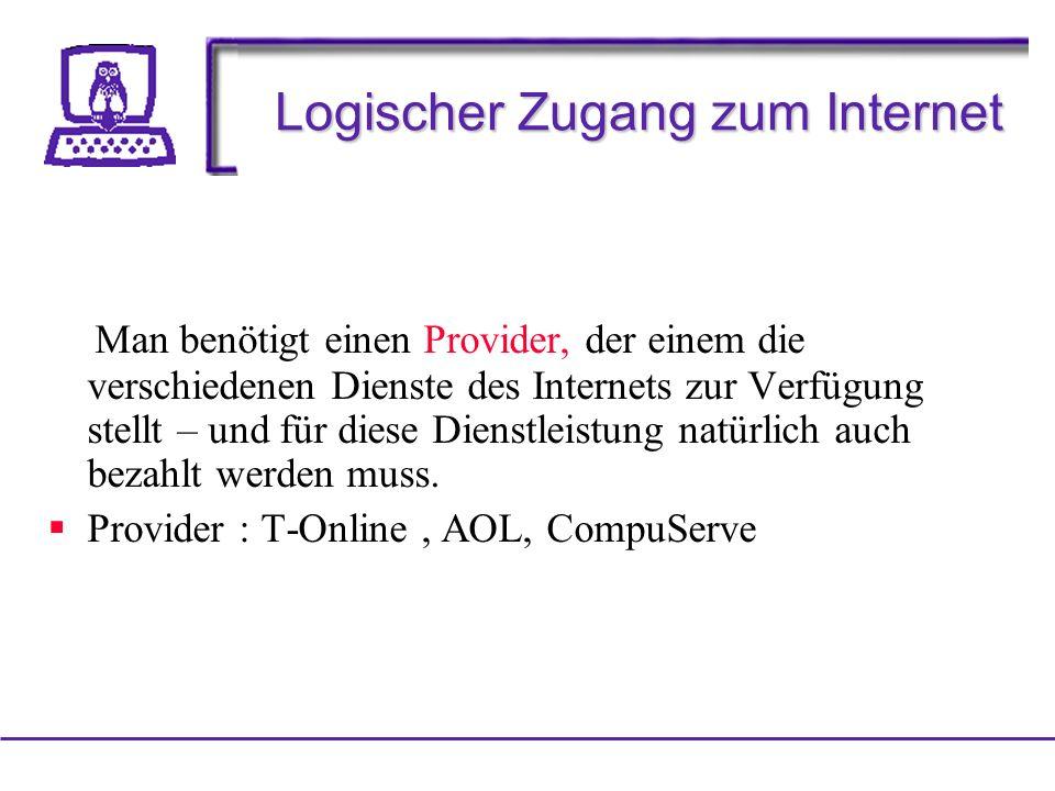 Logischer Zugang zum Internet