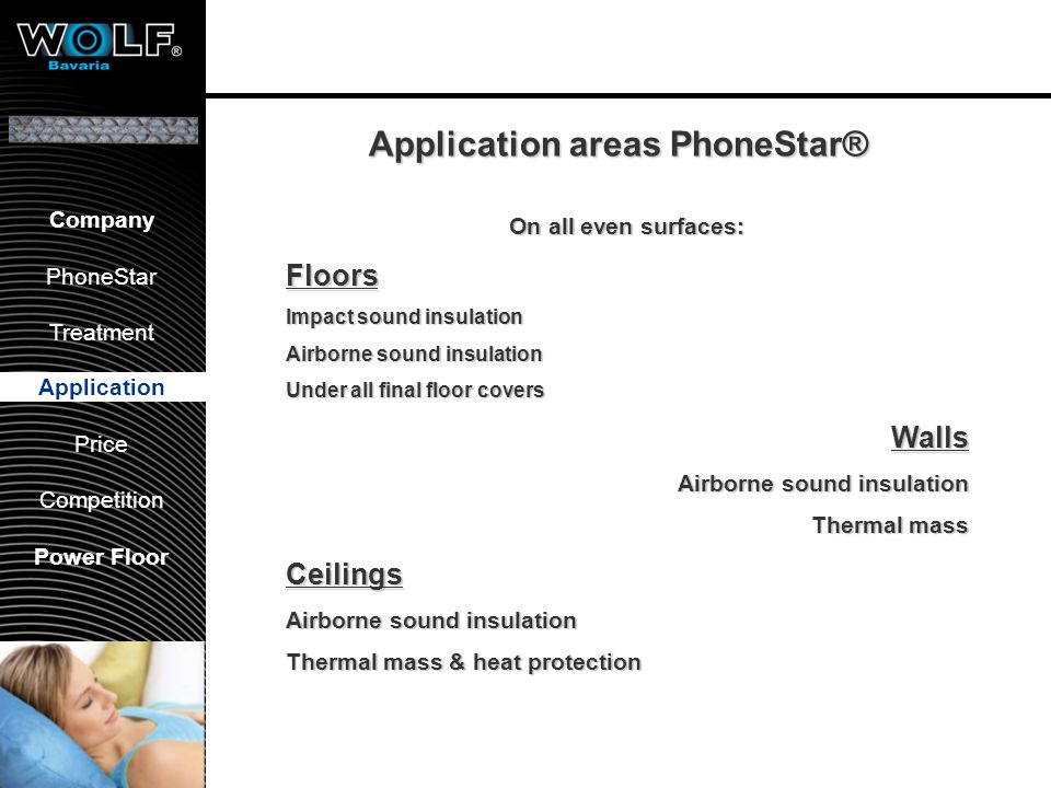 Concrete floorings One layer PhoneStar Parquet Application PhoneStar