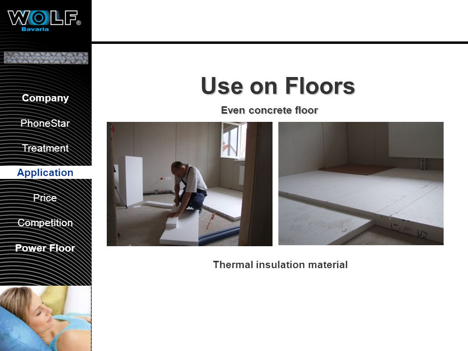 Dry flooring systems Application