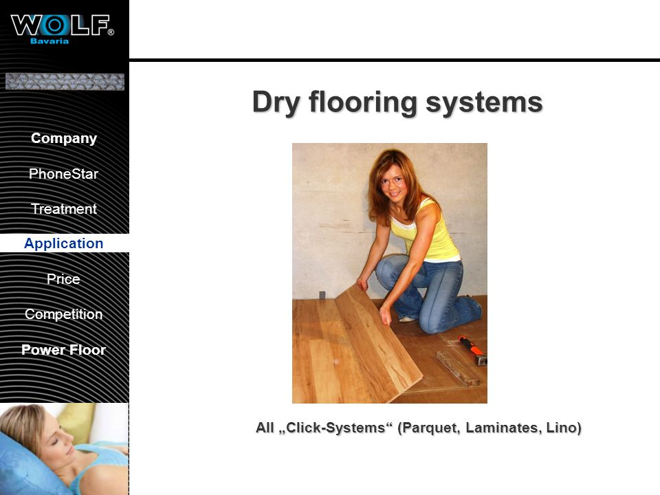 Floors: Solid Parquet Use Adhesives from: Uzin AG Wulf Glue systems