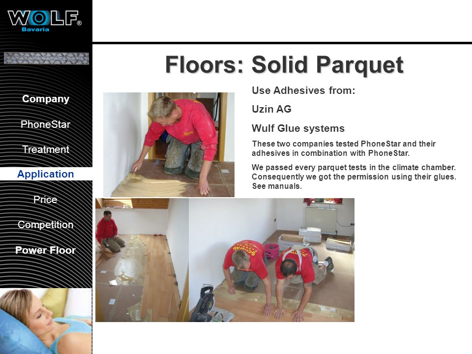 Floors: tiling Application 1. Priming PhoneStar Tiling